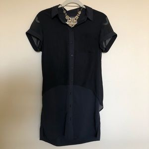 Banana Republic Black Button-Down Dress